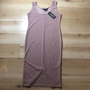 NWT Boohoo dusty rose tank dress